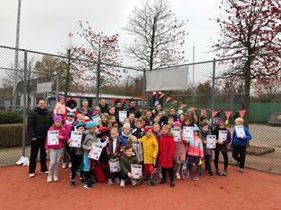TV Koriander deelnemers pietendiploma tennis 2019