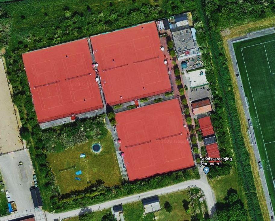 TV Koriander luchtfoto tennispark