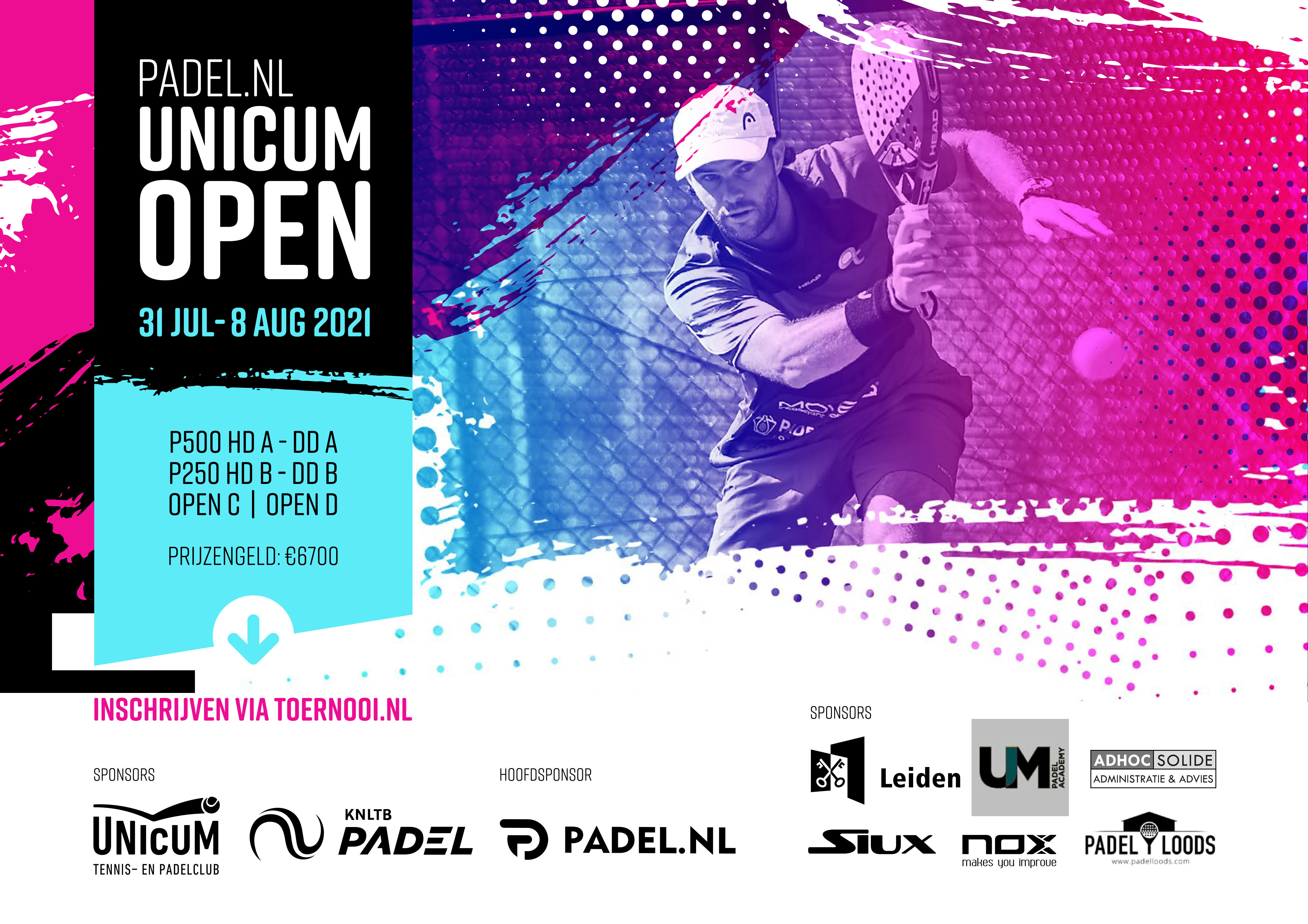 Padel.nl Unicum Open poster