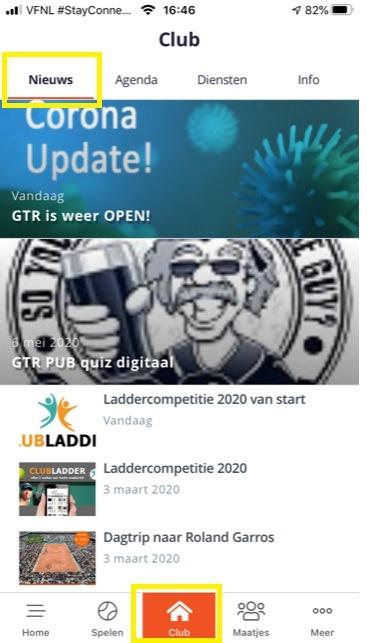 KNLTB ClubApp Nieuws Club Activiteiten