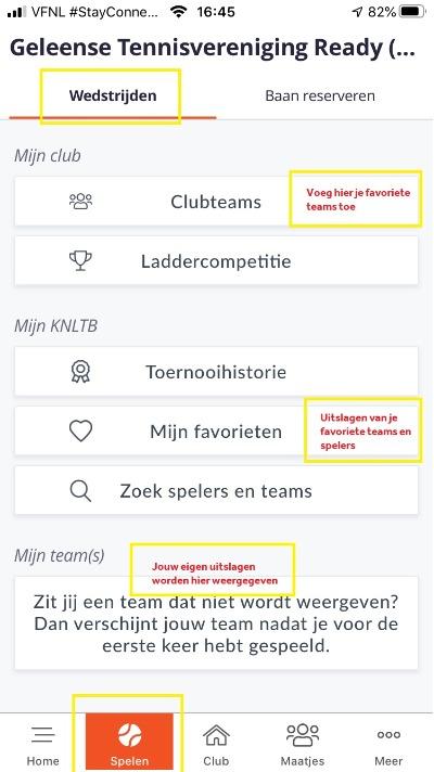 KNLTB ClubApp Wedstrijden Uitslagen Competitie Toernooi