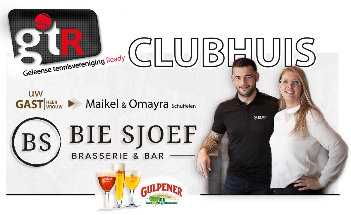 GTR Clubhuis Bie Sjoef Schuffelen Horeca Brasserie Bar Tennis