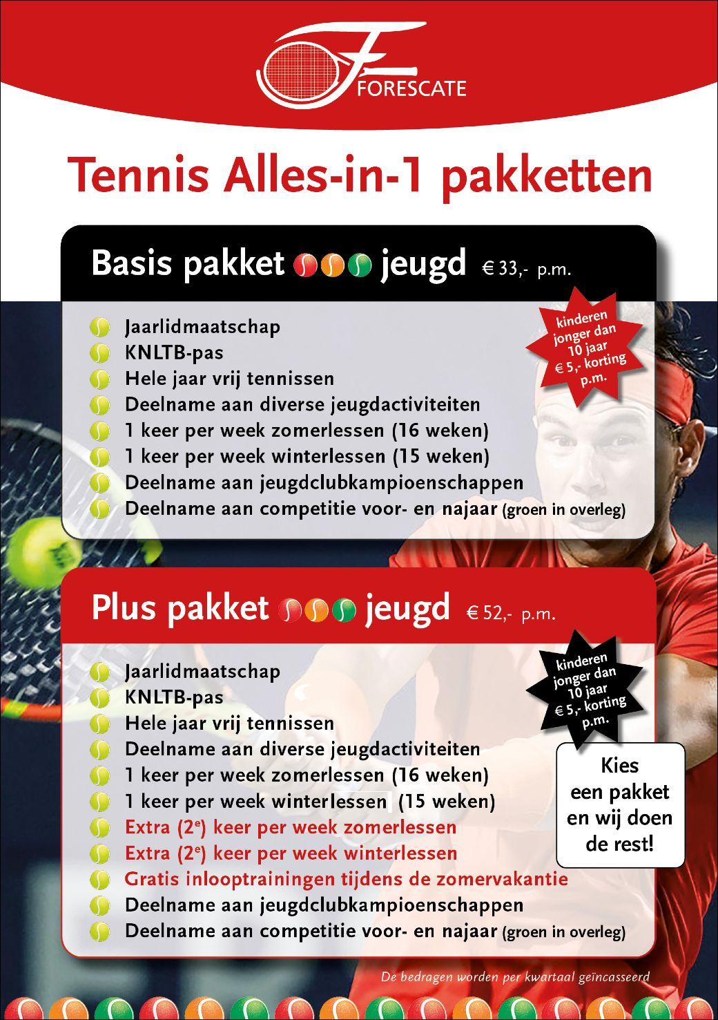 Tennis Alles-in-1 flyer
